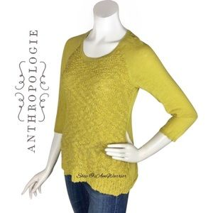Anthropologie Little Yellow Bird textured sweater